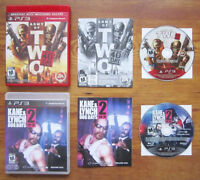 PS3 - ARMY OF TWO: THE 40TH DAY + KANE & LYNCH 2: DOG DAYS.