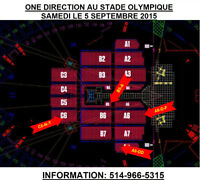 One Direction, 05/09/15,Stade Olympique, Parterre A6-D, B4-F