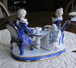 Limoges Figurine of Aristocrats Having Afternoon Tea Kitchener / Waterloo Kitchener Area image 4