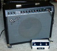 Fender Deluxe 85 - 85 Watts & 3 Button Footpedal- Mint Condition