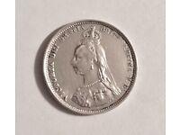 1887 Victoria silver shilling great condition