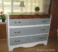 """""""Beachy"""" Style Chalk Painted Vintage Dresser!~$215~ UPcycled!"""