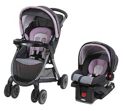 Graco Fast Action Click Connect Travel System - Janey - Stroller and Car Seat!