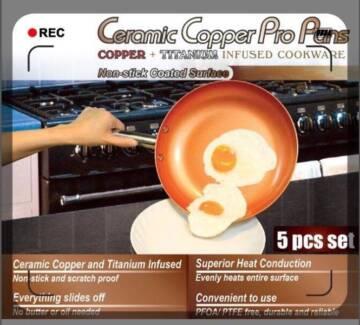 Ceramic & Titanium Non-Stick Frying Pan 20~28cm Dishwasher & Oven