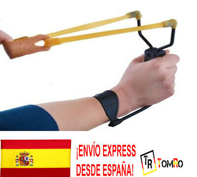 Tirachinas profesional Caza Pesca Competicion Horquillas metal Soporte antebrazo