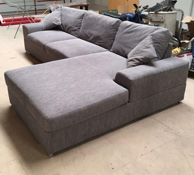 Immaculate grey L-Shape corner sofa