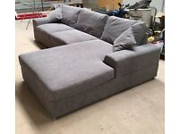 Immaculate grey L-Shape corner sofa