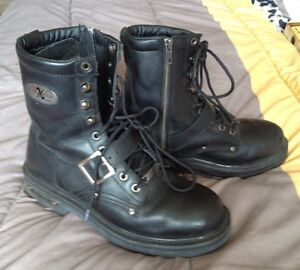 Leather Goth-Style Boots