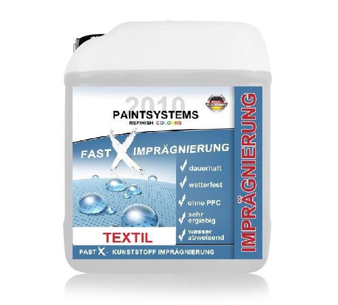 Fast X Imprägnierung Imprägniermittel Textil, 5 Liter