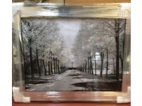 Superb liquid art trees in park with mirror frame new