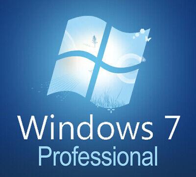 Windows 7 Professional 64 bit x64 Full Version w SP1 DVD &  Product Key on