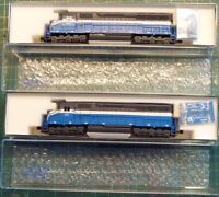 Two brand new Kato SD45 N-scale locomotives