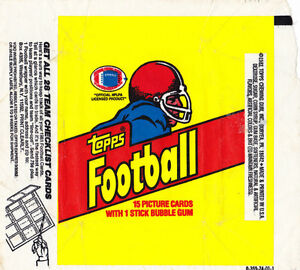 3 SPORTS BUBBLE GUM WAX WRAPPERS 1981-1990 FOOTBALL BASKETTBALL