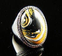 Unique Cool Tigers Eye 18K GP Ring Size 9---NEW!!
