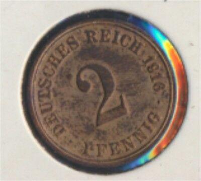Deutsches Reich Jägernr: 11 1916 A vorzüglich Bronze 1916 2 Pfennig (7849270