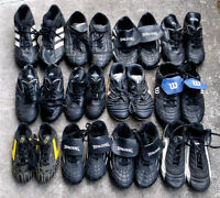 child soccer shoes assortment of sizes and brand names