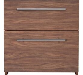 Atlas 2 Drawer bedside walnut