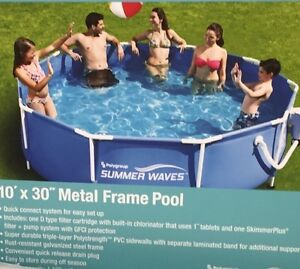 Brand New 10 x 30 Metal Frame Outdoor Swimming Pool