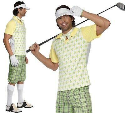 Mens Gone Golfing Fancy Dress Costume Golf Outfit by - Golfing Costume