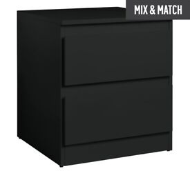 Larvick 2 Drawer bedside black