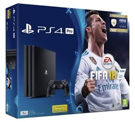 PlayStation 4 pro 1tb with Fifa 18 brand new sealed