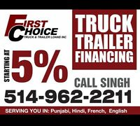 TRUCK LOANS? TRUCK, TRAILER, CONSTRUCTION EQUIPMENT LOANS !
