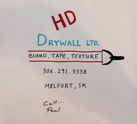 NEW Drywall Co in Melfort