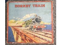 Rare tinplate prewar Hornby train set boxed