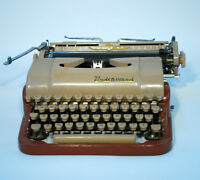 Mid Century Underwood Typewriter – delete quiet brown & tan