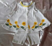 BEAUTIFUL 2 PIECE SUMMER  SLEEVELESS OUTFIT WITH FLOWERS