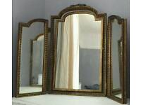 Stunning triple dressing table mirror