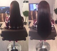Tape hair extensions • Extensions bandes adhésives
