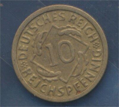 Deutsches Reich Jägernr: 317 1928 G sehr schön 1928 10 Reichspfennig (7879711