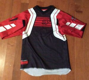 Red and black dirtbike uniform
