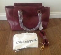 Brand New Authentic Cuore & Pelle Musette Leather Tote-$120