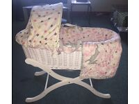 Baby Joules mad hatter Moses basket