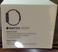 BNIB Apple Sport Watch 42mm Space Gray with AppleCare