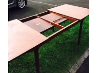 Extra long 4 leaf dinning room table