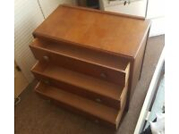 Lightweight 3 drawer chest of drawers. Need gone today