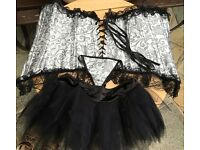 BRAND NEW Corset, tutu and underwear would for size 10-12