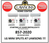 LG MINI SPLITS AT LAWSONS