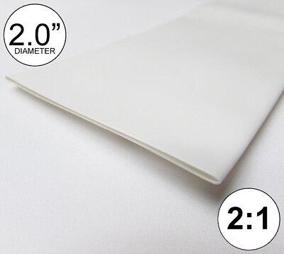 2 Id White Heat Shrink Tube 21 Ratio Polyolefin 2.0 Feetftto 50mm 8 Inch