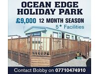 Static CARAVN for sale ocean edge holiday park (private sale) 12 month season