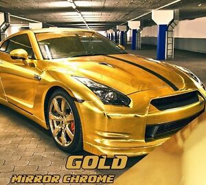 Gold Golden High Quality Vinyl Wrap Or Haute Qualité Vinyle