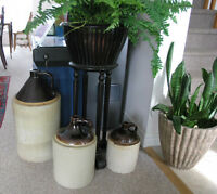 Stoneware Imperial Brown Top Jugs (5-3-2 Gal Sizes)