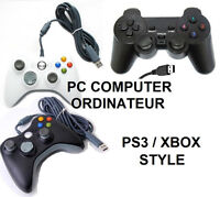 MANETTE USB*ORDINATEUR PC LAPTOP*WIRED CONTROLLER*XBOX PS3 STYLE