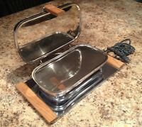 Antique 1950s Toaster Sandwich Press Grill Standard Appliance GE
