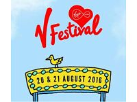 2 Weekend camping tickets for V festival