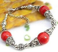 tibet red coral bracelet--NEW!!