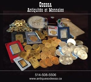 ACHAT OR-BUY GOLD-10k-19$/14kt-26.50$/18k-34.50$.SILVER .50c